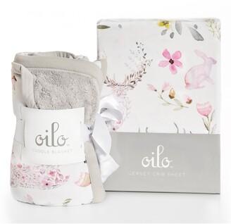 Oilo Fawn Crib Sheet & Cuddle Blanket Set