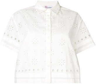 RED Valentino Broderie Anglaise Blouse