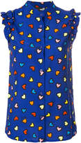 Love Moschino heart print sleeveless shirt