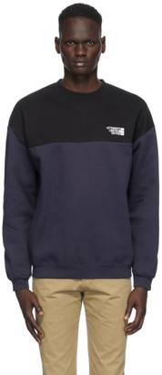 Vetements Black and Navy Cut Up Logo Sweatshirt