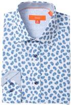 Tallia Mini Paisley Print 4-Way Stretch Dress Shirt