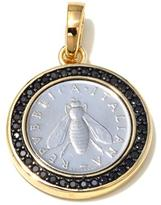 "Bellezza ""Bee"" Lira Coin .72ctw Black Spinel Bronze Enhancer Pendant"