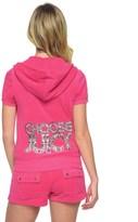 Juicy Couture Logo Terry Choose Juicy Short Sleeve Jacket