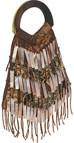 Thumbnail for your product : Global Elements Shell & Beaded Fringe Evening Bag