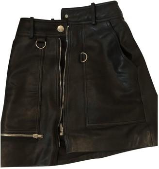 Isabel Marant Black Leather Skirts