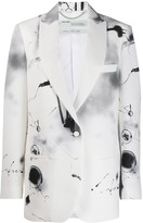 Off-White Off White abstract print single-breasted blazer