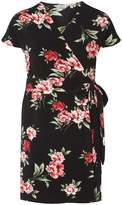Dorothy Perkins Petite Multi Coloured Rose Print Wrap Dress