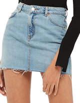 Topshop PETITE High-Waist Denim Skirt