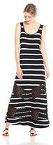 Kensie Women's Striped Maxi Dress