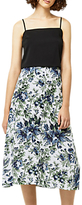 Warehouse Lily Print Midi Skirt, Neutral/Multi