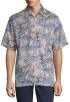 Tommy Bahama Dahlia Beach Silk Button-Down Shirt
