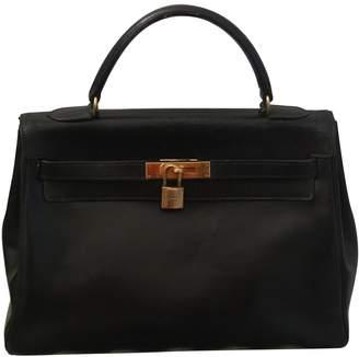 Hermes Kelly 32 Black Leather Handbags