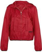 Prada Shell Hooded Jacket - Red