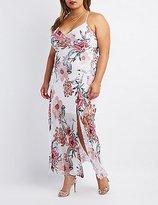 Charlotte Russe Plus Size Floral Mesh Maxi Dress