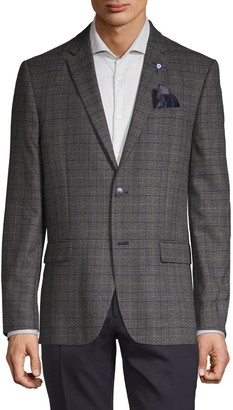 Ben Sherman Plaid Standard-Fit Coat