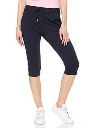 Vero Moda NOS Women's Vmeva Mr Loose Jersey Slit Knickers Noos Trouser, Blue Night Sky, 12 (Size: Medium)