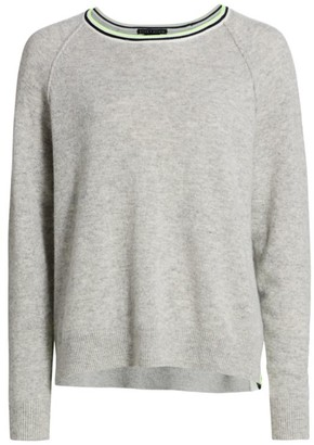 Alice + Olivia Moira Stripe Trim Sweater