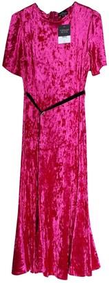 Topshop Tophop Pink Velvet Dress for Women