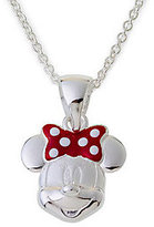 Disney Sterling Silver Minnie Mouse Pendant w/Chain