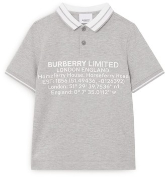 Burberry Kids Horseferry Polo Shirt (3-12 Years)
