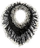 Tuleste Crystal Bead Fringe Necklace