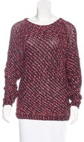 Maje Open Knit Raglan Sweater