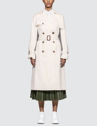 Alexander McQueen Houndstooth-panel Plaid Trench Coat
