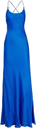 Galvan Castello Sleeveless Silk Maxi Dress
