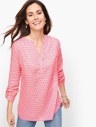 Talbots Linen Camp Shirt - Lattice