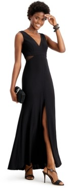 Xscape Evenings Petite Illusion-Inset Mermaid Gown
