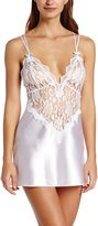 Dreamgirl Women's To Have and To Hold Satin Charmeuse Chemise and Thong