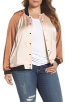 Melissa McCarthy Plus Size Women's Reversible Embroidered Bomber Jacket