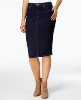 Lee Platinum Denim Pencil Skirt
