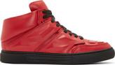 Alejandro Ingelmo Red Leather Exotron Sneakers