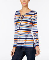 MICHAEL Michael Kors Criollo Striped Lace-Up Tunic