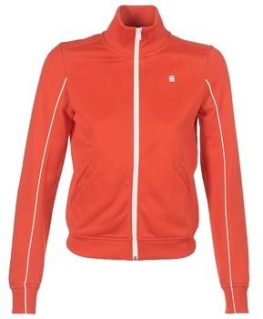 G Star LANC SLIM TRACKTOP SW women's Sweatshirt in Red