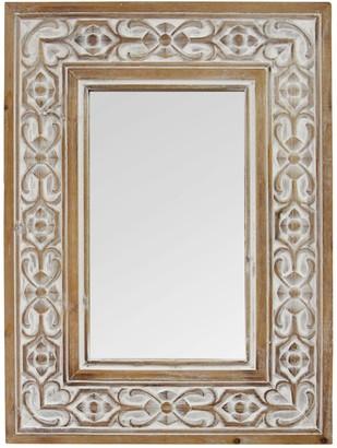 Stratton Home Hillary Wood Wall Mirror