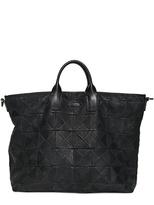 Giorgio Armani Laser Print Leather Shopper