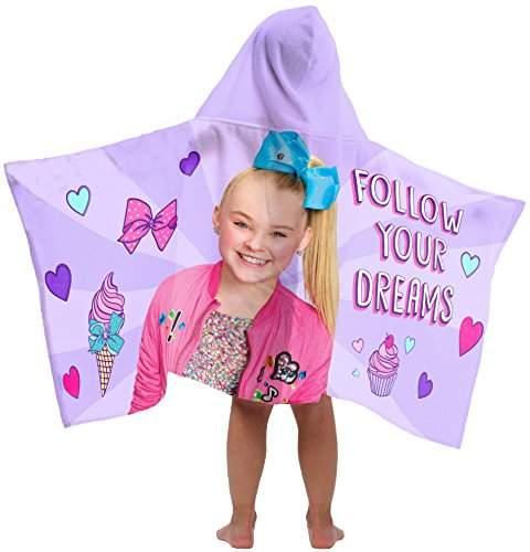 Nickelodeon Jay Franco JoJo Siwa Follow Your Dreams Hooded Bath/Pool/Beach Towel