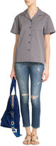Victoria Beckham Denim Distressed Skinny Ankle Jeans