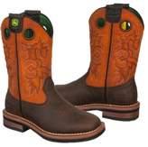 John Deere Kids' Square Toe Pull On Cowboy Boot Toddler/Preschool