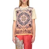 Etro Sweater Shirt With Short Sleeves And Ethnic Print