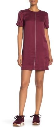 Equipment Noemy Contrast Stripe Silk Blend Dress