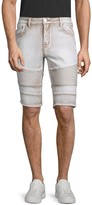 X-RAY Jeans Xray Jeans Washed Moto Denim Shorts