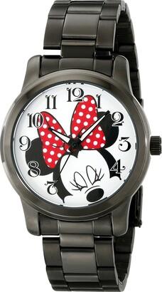 Disney Unisex W001843 Minnie Mouse Analog Display Analog Quartz Black Watch