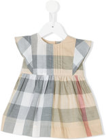 Burberry pale check dress - kids - Cotton - 6 mth