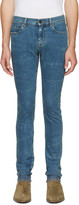 Saint Laurent Blue Original Low Waisted Skinny Jeans