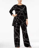 Alfani Plus Size Printed 3/4-Sleeve Tunic, Created for Macy's
