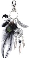 Keyhains, Doinshop Dreamather Turquoise Feather Tassel Keyrings Bag Ring ar Key Pendant