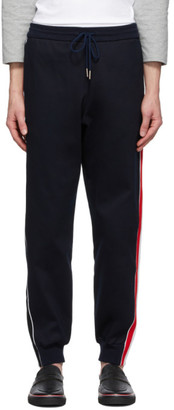 Thom Browne Navy Interlocking RWB Stripe Lounge Pants